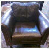 10.Brown transitional leather chair-$400