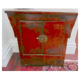 25.Chinese red lacquered altar table-$4,200