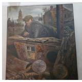 "45.Vasily Shulzhenko ""Charon Waiting"" oil-$18,000"