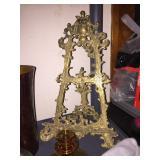 tabletop brass easel