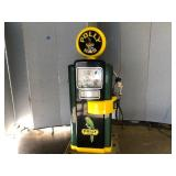 Full Size Service Station Polly Gas Pump With Swiveling Hose,