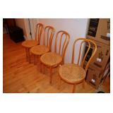 Wicker Oak Chairs