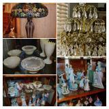 LLardo, Belleek, Royal Dalton, Crystal & Tiffany Style Lamps