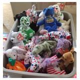 tub of Beanie Babies