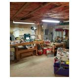 FABULOUS WHITMAN ESTATE SALE SAT FEB 17TH ANTIQUES FURNITURE LOADED WORKSHOP with WOODWORKING TOOLS!
