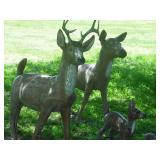 Life Size Concrete Deer Family