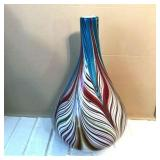 Lot 081  Decorator Art Glass Bottle Vase