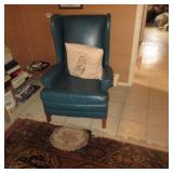 Leather Wing Chair Seating