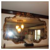 Ornate Gold Gilt Stunning Mirror NOTE: BUST NOT FOR SALE
