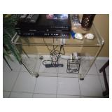 Lucite Rolling Cart