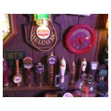 WOW VINTAGE BAR ROOM ~ PACKED ALL BAR MEMORABILIA !!  LIGHTED SIGNS, TAPS, TRAYS, STEINS, GLASSWARE,