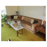 BLAST FROM THE PAST LIVING ROOM SUITE HORSEHAIR SOFA SECTIONAL