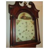 FOULKER BAKEWELL OAK/MAHOGANY LONGCASE ANTIQUE GRANDFATHER CLOCK