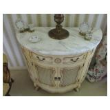 MARBLE TOP ENTRY TABLES AND MIRRORS