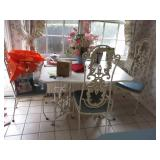 IRON TABLE AND CHAIRS GREAT FOR ANY ROOM