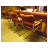 MID-CENTURY MODERN CHROME CAL-STYLE SEATING AND TABLES