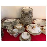 """Limoges service for 12 """"Bamboo"""""""
