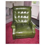 MCM Green Vintage Pleather Lounge Chair