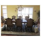 LEGACY CLASSIC DINING ROOM TABLE WITH 8 CHAIRS