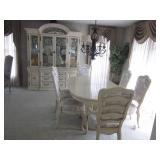 Bernhardt Washed Oak Dining Room Suite