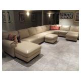 Natuzzi Leather Large Sectional Sofa