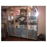 Lighted China Cabinet with contents