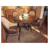 Raymour & Flanigan Kitchen/Dining Suite With Leather Seating