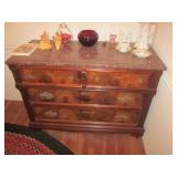 Marble Top Mahogany Chest of Drawers