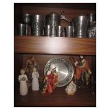 Tons of Pewter and Statuary