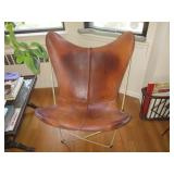 Knoll Leather Butterfly Chair