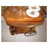 Italian Inlaid tea Cart