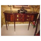 Councill Furnishings Sideboard / Candelabras / Listed Oils