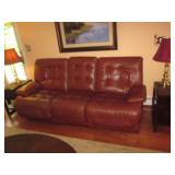 The Place Leather Living Room Suite Recliners