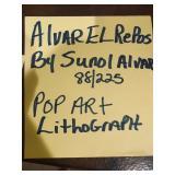 ALVAREL REPOS BY SUNOL ALVAR 88/225 LITHOGRAPH POP ART