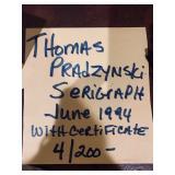 THOMAS PRADZYNSKI SERIGRAPH 4/200