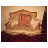 Victorian Loveseat Sofa Cane Back