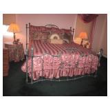 Wrought Iron Bed Headboard & Footboard