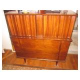 Spectacular Mid-Century Modern United Walnut Bedroom Suite Purchased 1961 Complete