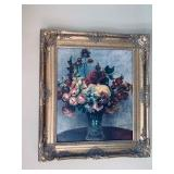 "Original Pierre Auguste Renoir Oil On Canvas ""Flowers In A Vase"" with certificate"