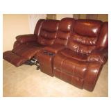 Natuzzi Leather Sofa Recliner