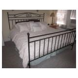 King Wrought Iron Decorative Headboard & Footboard