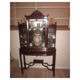 Baker Stunning Inlaid China Display Cabinet
