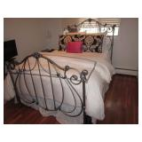 Queen Iron Ornate Bedframe
