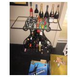 Wine Rack With Glass Top Serving Station