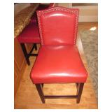 Four Leather Tufted Counter Seats