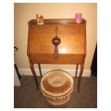 Victorian Oak Slant Front Desk