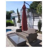 Pelican Reef Outdoor Patio Suite & Cantilever Umbrellas