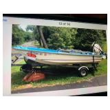 13 ft Boston Whaler, 2006 25hp Etec Engine, brand new, very few hours, trailer and power wench, trol