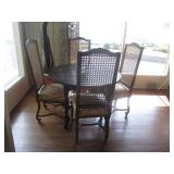 Cane Back Seating With Dining Table