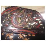 Antique Carved Antique Asian Room Divider